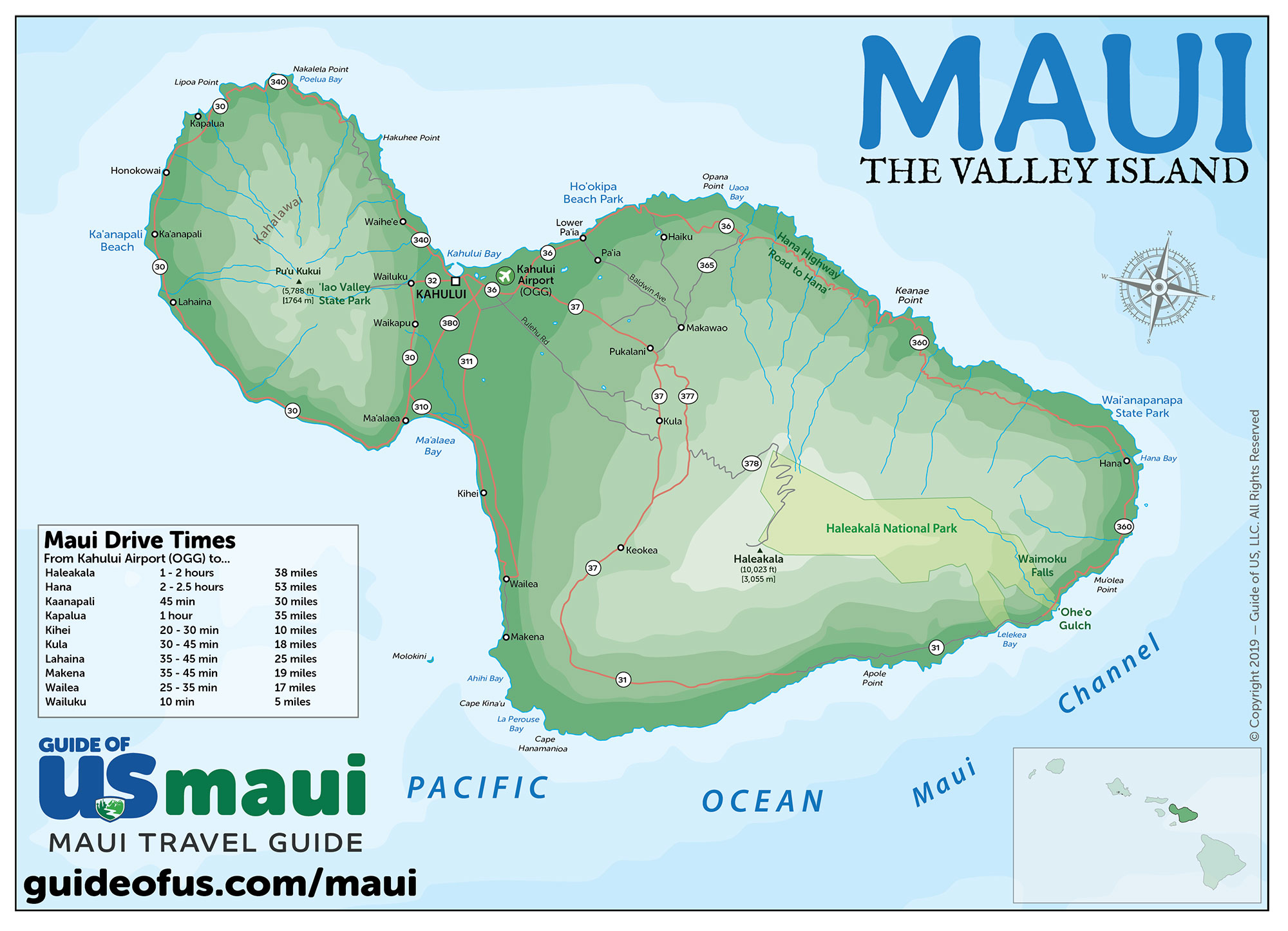 photo regarding Printable Map of Maui named Maui Hawaii Maps - Push Street Map