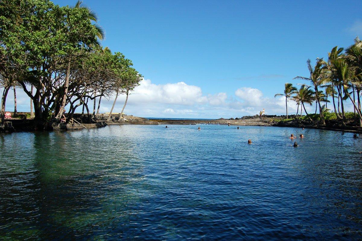 Ahalanui Park Big Island Of Hawaii