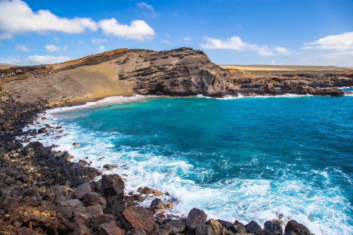 green sand beach papakolea big island hawaii